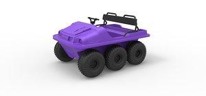 3D model argo 6x6 diecast