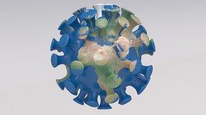 3D coronavirus earth