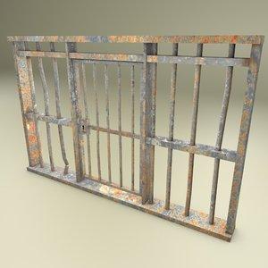 prison bars model