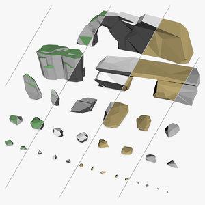 stones rocks model