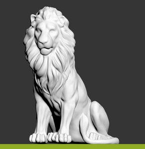 statue lion 3D model