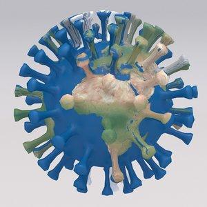 3D coronavirus earth v2 model