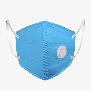 3D respirator masks virus protection model