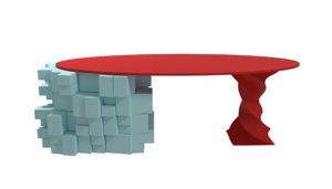 3D model modern pop table dow