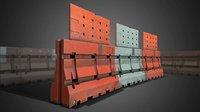 3D Construction Barricades - Game Ready