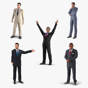 3D rigged businessmans 2 model