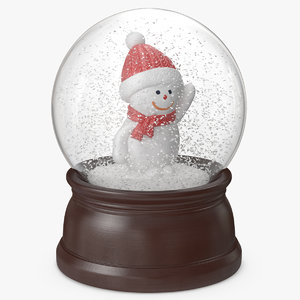 3D snow globe snowman 4