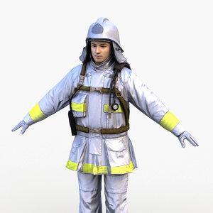 3D japan firefighter 0001