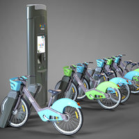 Velib' Metropole Paris public bicycle sharing system