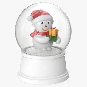 3D snow globe snowman 5