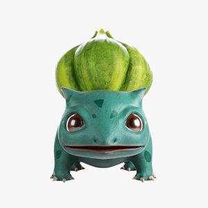 grass bulbasaur 3D model