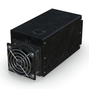 3D model bitcoin miner pbr