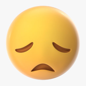disappointed face emoji 3D