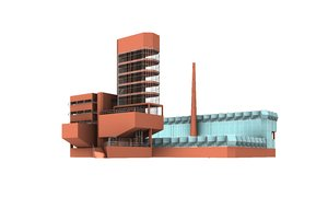 leicester university engineering building 3D model