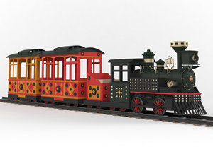 3D train ride model
