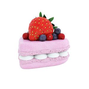3D food dessert macaron model