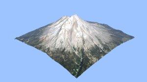 volcano mount shasta 3D model