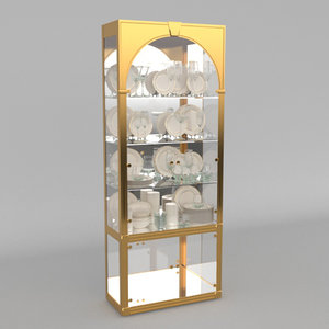 3D mastercraft brass vitrines