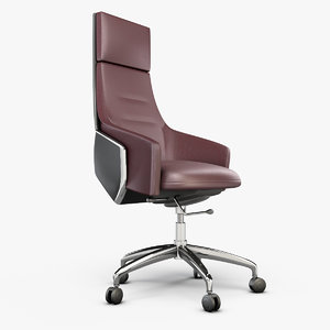 3D leather office armchair model