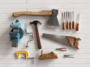 carpenter tool kit 3D model