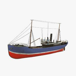 fishing boat pbr 3D model