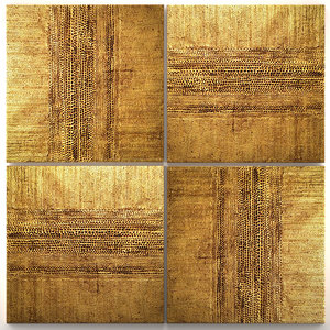 3D paintings gold walls model