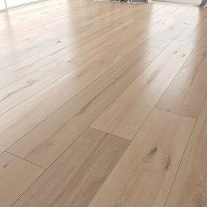 3D model wood floor oak vergne