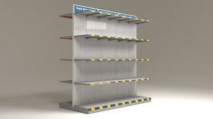 3D shelves markets model