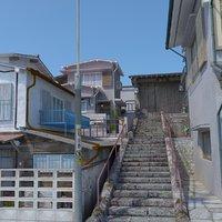 Japanese Stairs Scene