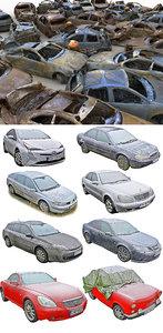 3D car wreck pack model