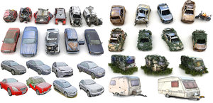 3D car apocalypse mega pack