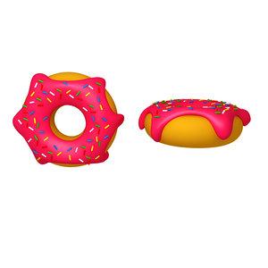 donut cartoon model