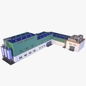 industrial building 16 3D model