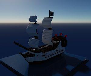 voxel pirate ship model