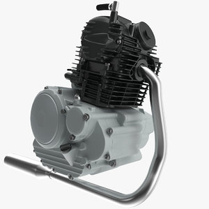 3D motorcycle engine