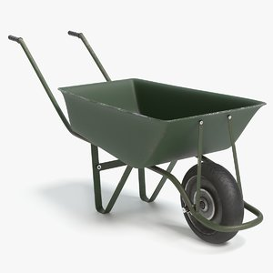 wheelbarrow pbr 3D model