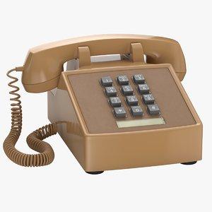 retro phone 3D