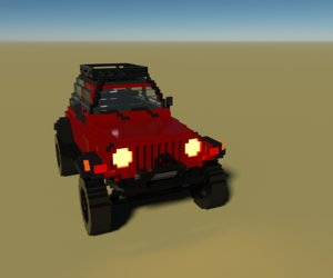 3D voxel jeep
