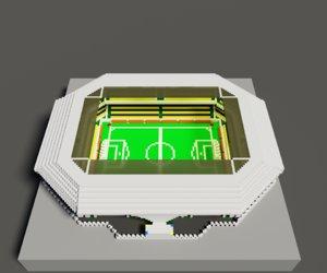 voxel stadium 3D model