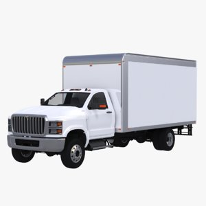 3D international cv box truck