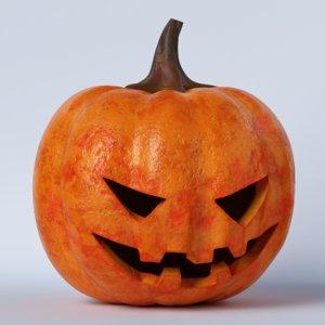3D pumpkin face 02 model