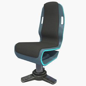 3D model sci fi armchair