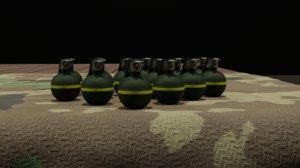 3D m67 grenade model