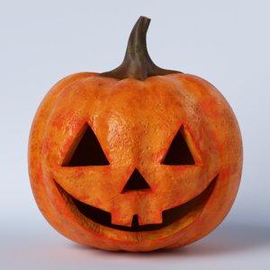 pumpkin face 03 model
