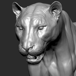 3D tiger vfx ultra zbrush