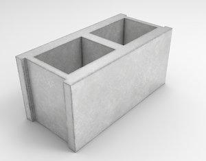 3D cinder block pack