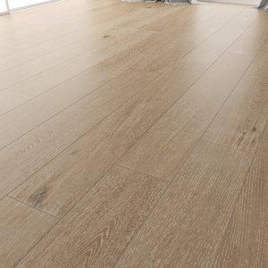 3D wood floor oak malmo model