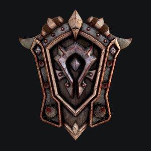 3D fantasy shield 5 modeled