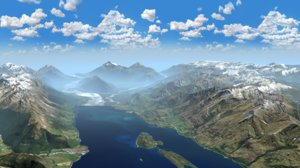 3D model mountains landscape glenorchy new zealand