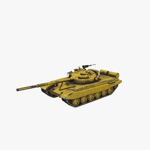 3D t-72 mbt tank pbr